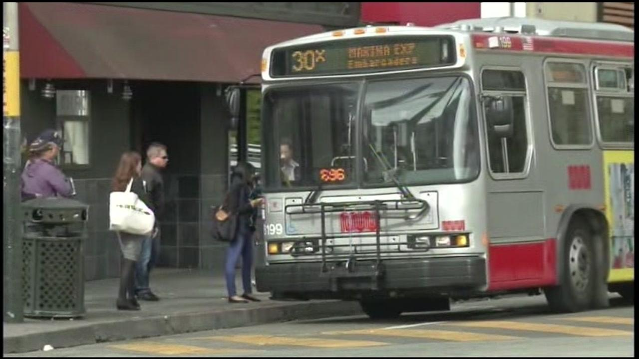 This is an undated image of a Muni vehicle.