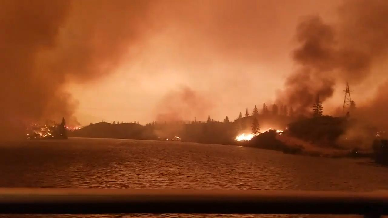 VIDEO Drive through Carr Fire near Redding reveals apocalyptic