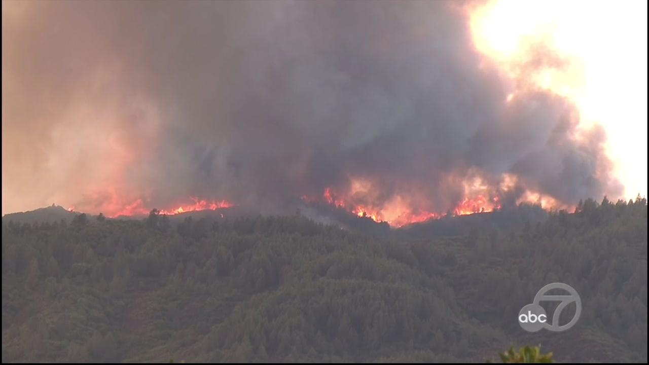 New wildfire erupts in Northern California
