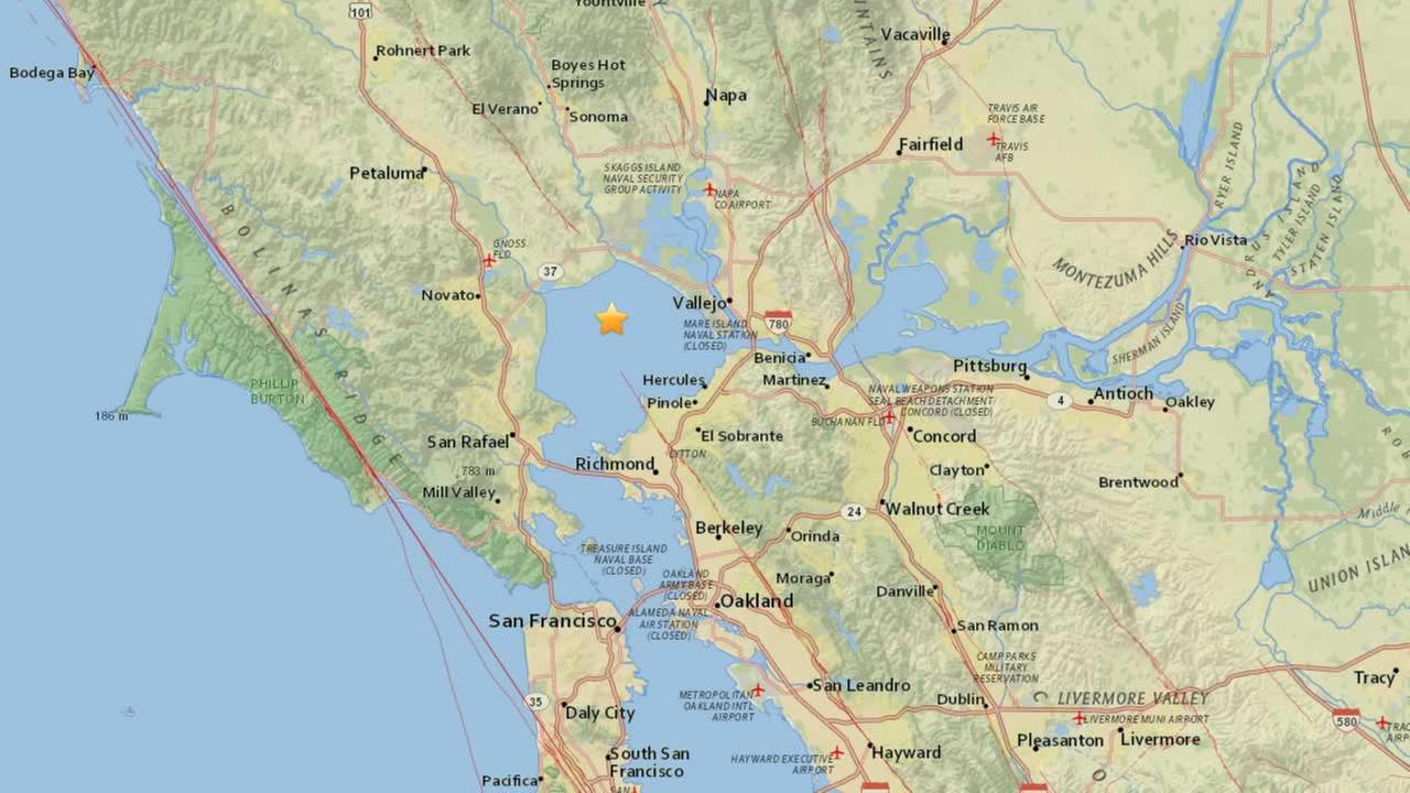 USGS created this map showing where an earthquake hit in the North Bay on Monday, July 30, 2018.