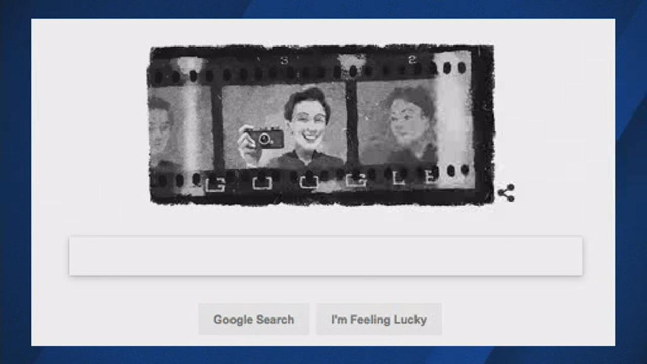 This image shows Google doodle featuring pioneering war photographer Gerda Taro on August 1, 2018.