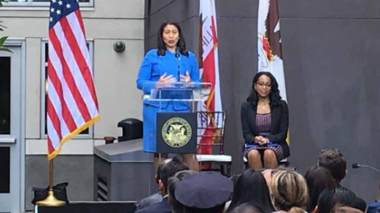London Breed is seen in San Francisco on Wednesday, August 1, 2018.