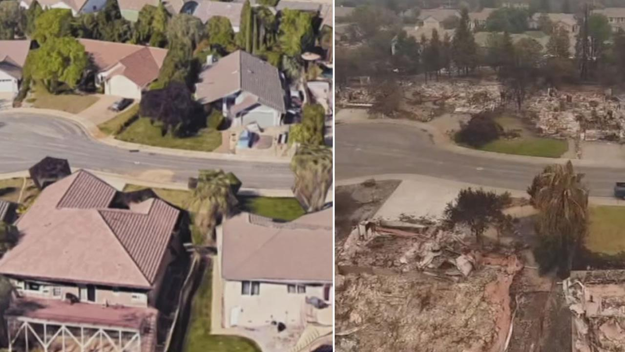 Before and after photos show the devastation in Reddings River Ridge neighborhood on Wednesday, August 1, 2018.