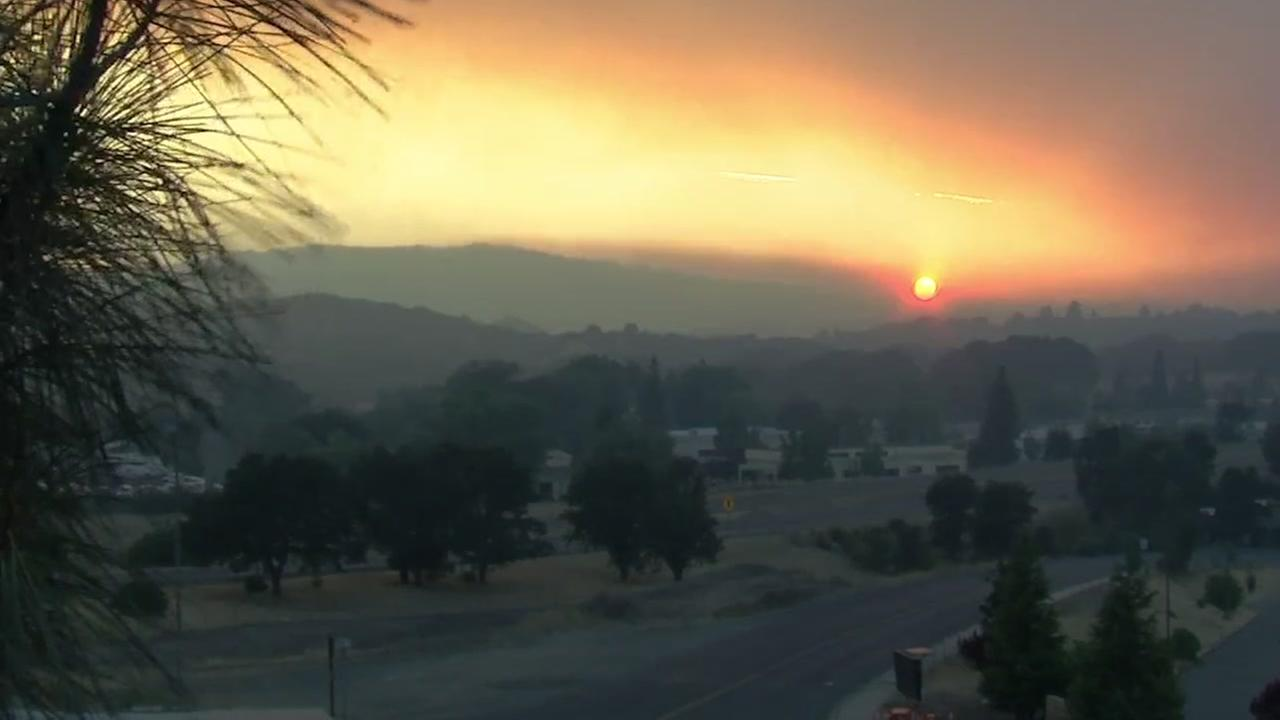 As of Wednesday, August 1, 2018, no flames could be seen from Lakeport, Calif., but the thick smoke coming from miles away continues to permeate the communities along Clear Lake.