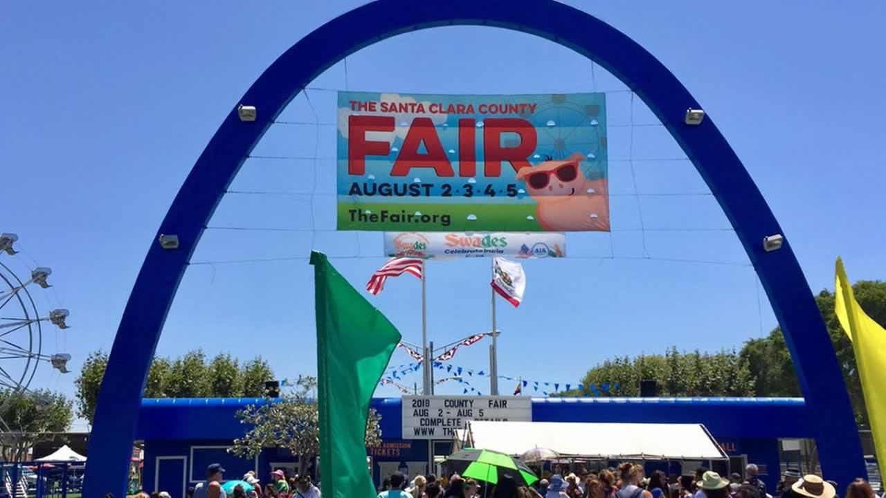 The entrance to the Santa Clara County Fair is pictured on Thursday, August 2, 2018.