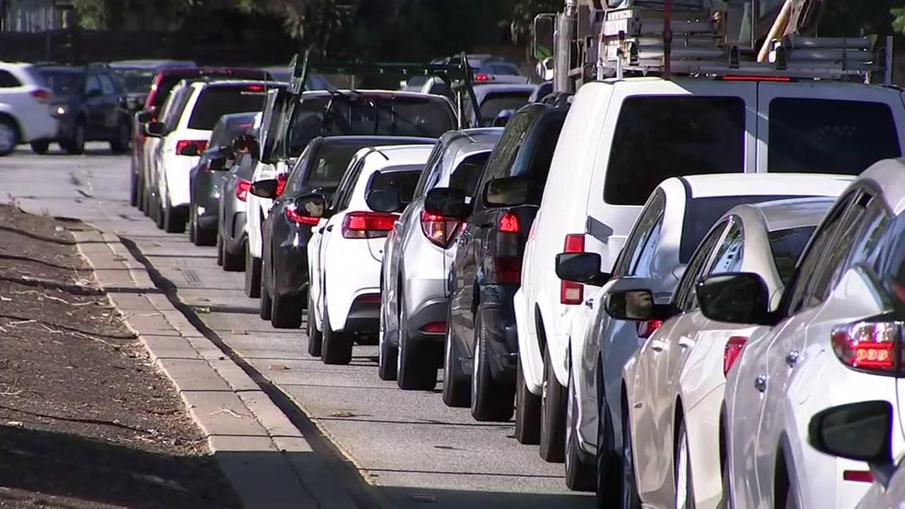 Bumper to bumper traffic in Palo Alto, Calif., on Aug. 2, 2018.