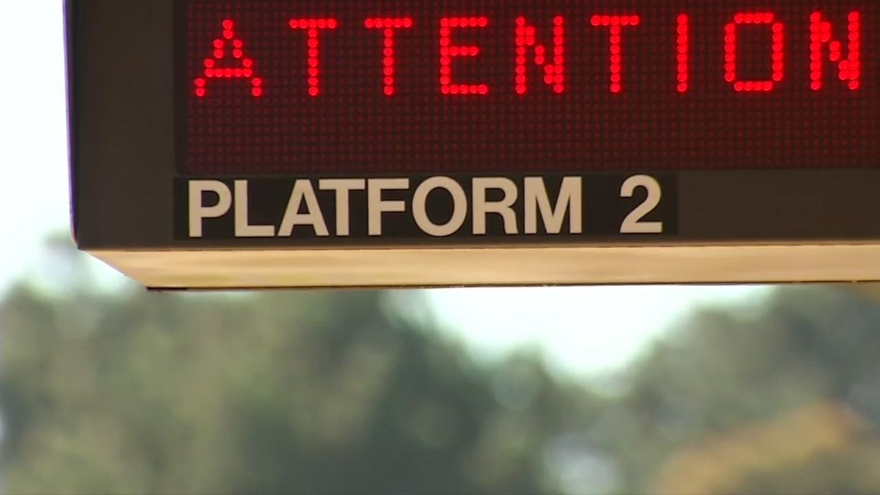 A sign at the Richmond BART platform on Aug. 4, 2018.
