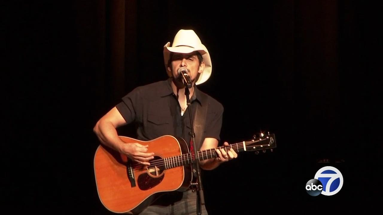 Country music star Brad Paisley sings at a concert to benefit victims of last years North Bay fires on Aug. 4, 2018, in Rohnert Park, Calif.