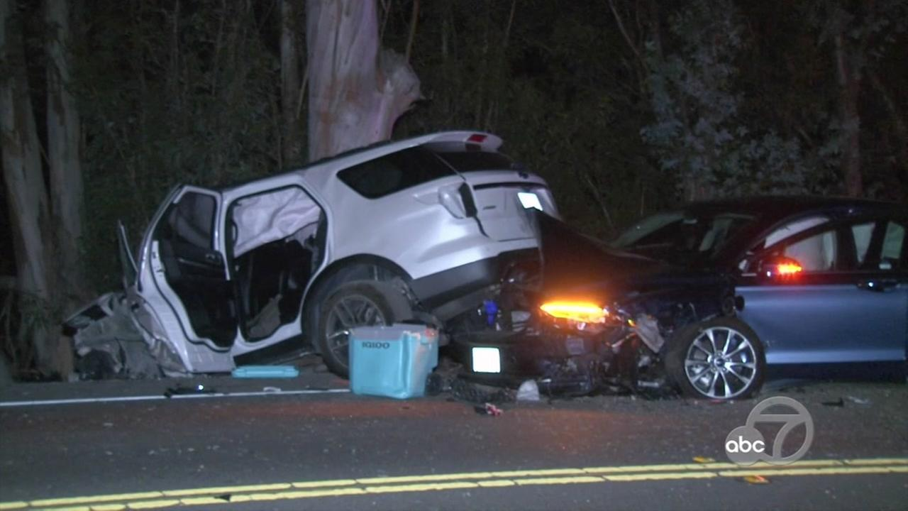 A 7-month-old girl died after a three-vehicle collision Thursday, August 9, 2018 on Lakeville Highway in Sonoma County, Calif.