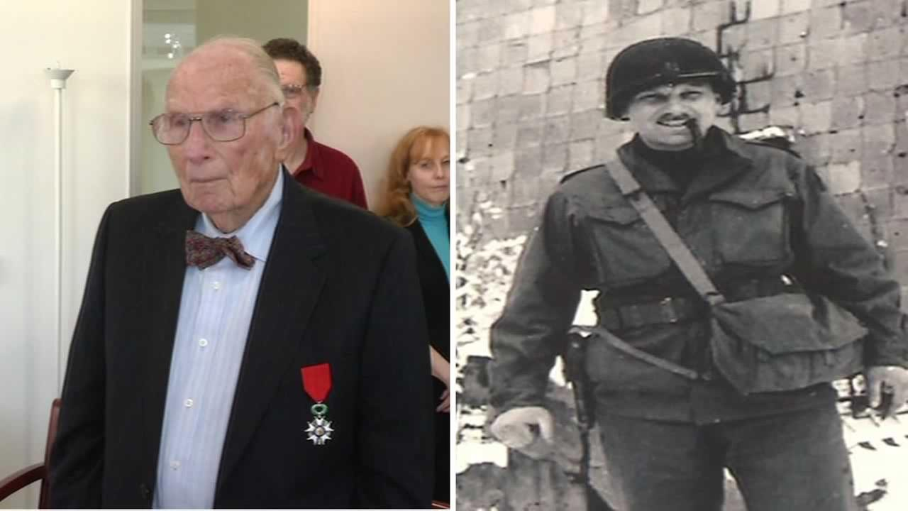 Nathan Landes, 96, received the Legion of Honor from the French Consul General in San Francisco.