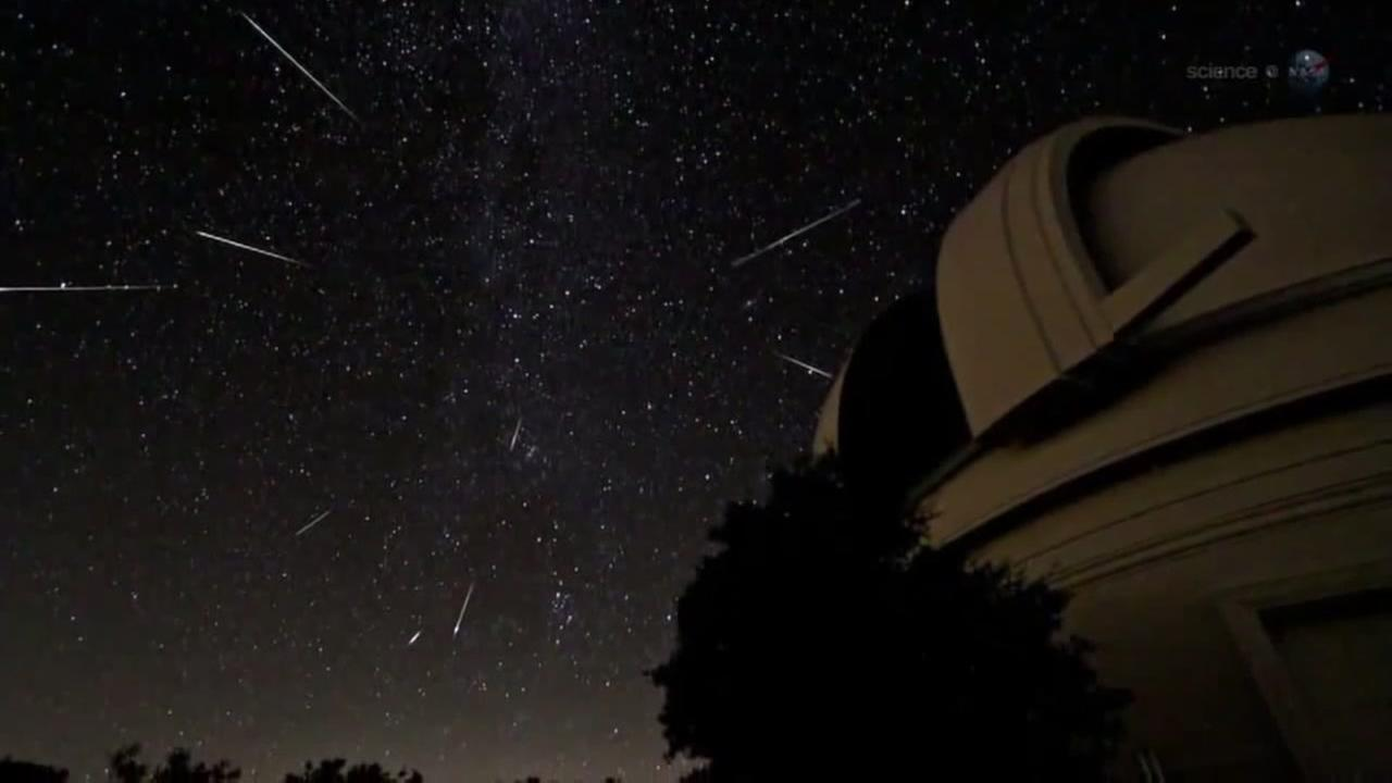 This is an undated image of a meteor shower.