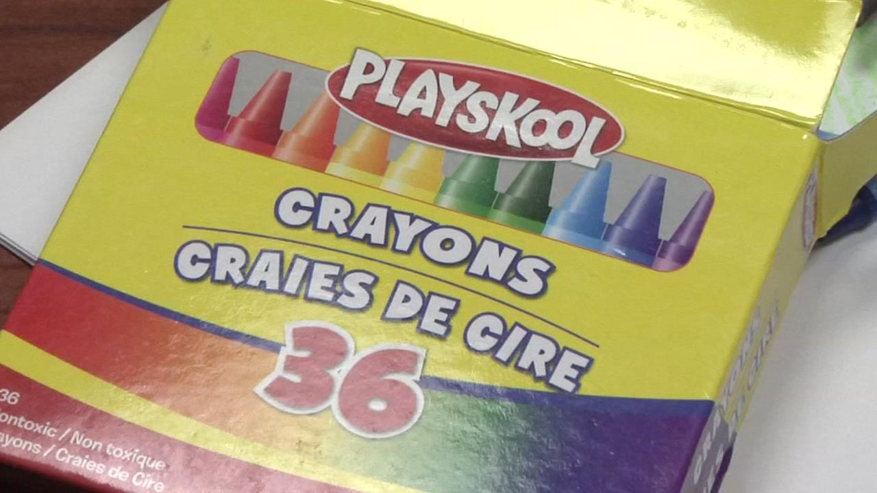 Playskool crayons are pictured in this undated file photo.