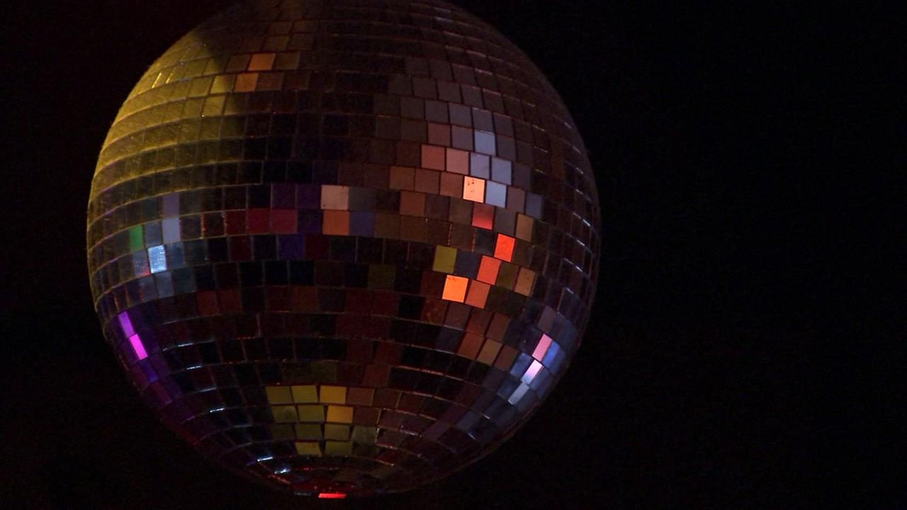 This is an undated image of the disco ball inside the Hemlock Tavern in San Francisco.