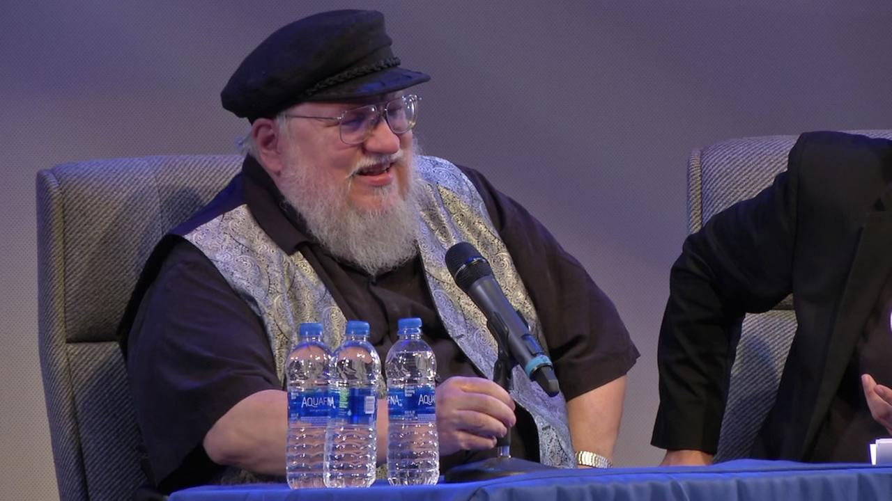 Game of Thrones creator George R.R. Martin makes an appearance in REdwood City, Calif. on Tuesday, Aug. 14, 2018.