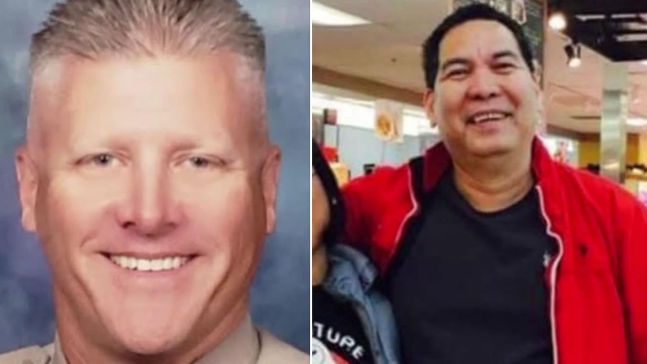CHP Officer Kirk Griess is pictured, left, and Jaime Manuel is pictured, right.