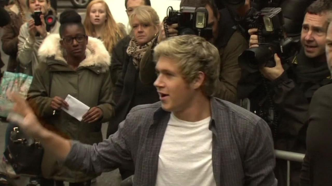 One Directions Niall Horan arrives in London to record the charity song for the Ebola crisis.