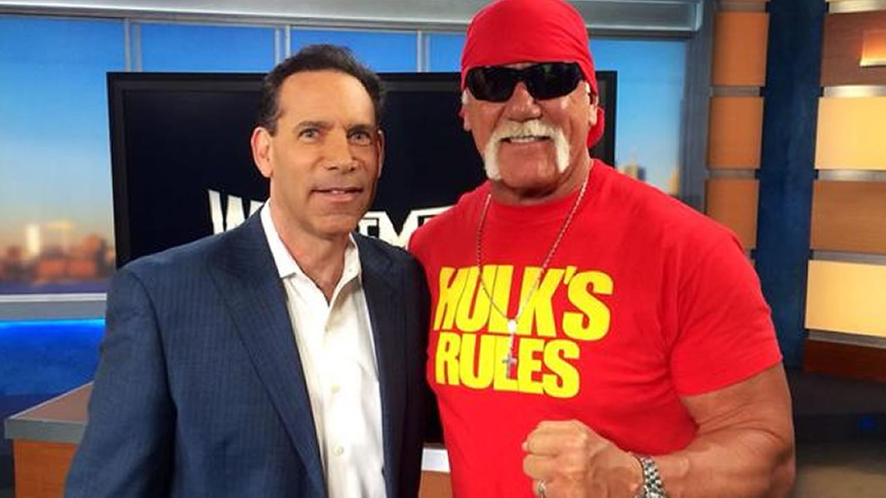 Hulk Hogan stopped by ABC7 to talk to Larry Beil