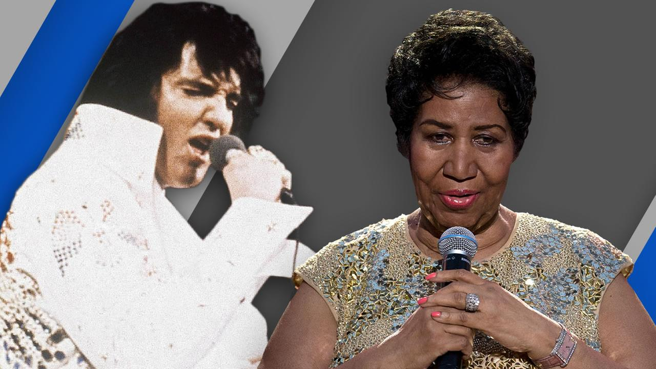 Elvis Presley and Aretha Franklin both died on August 16.