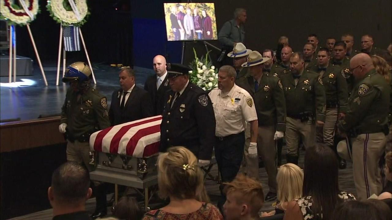 Funeral for CHP Officer Kirk Griess in Vacaville on Friday, August 17, 2018.