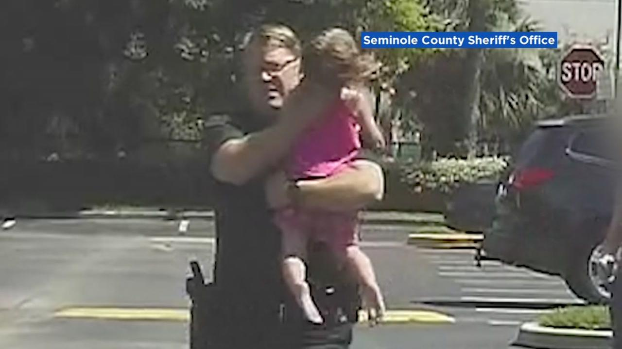 A 3-year-old is saved from a hot car in Florida.