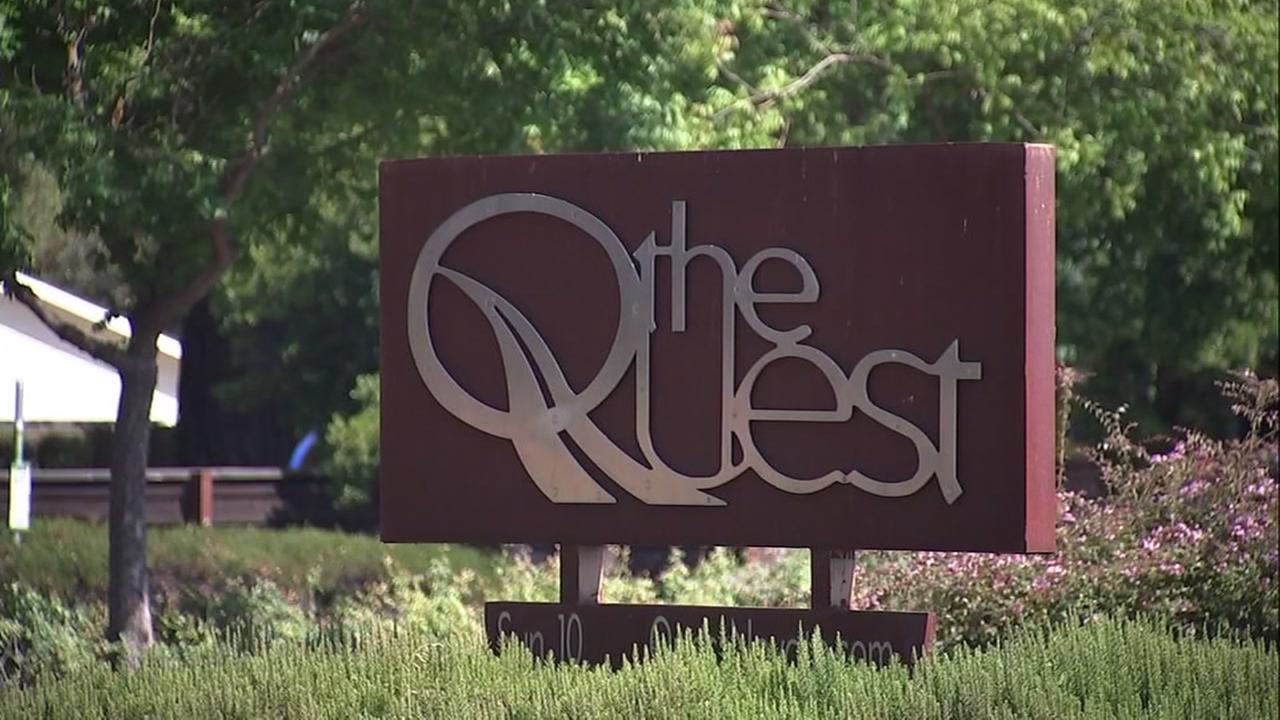A sign for The Quest church is seen in Novato, Calif. in this undated image.