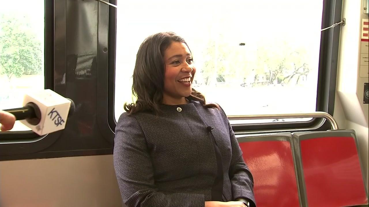 London Breed rides on Muni in San Francisco on Tuesday, August 21, 2018.