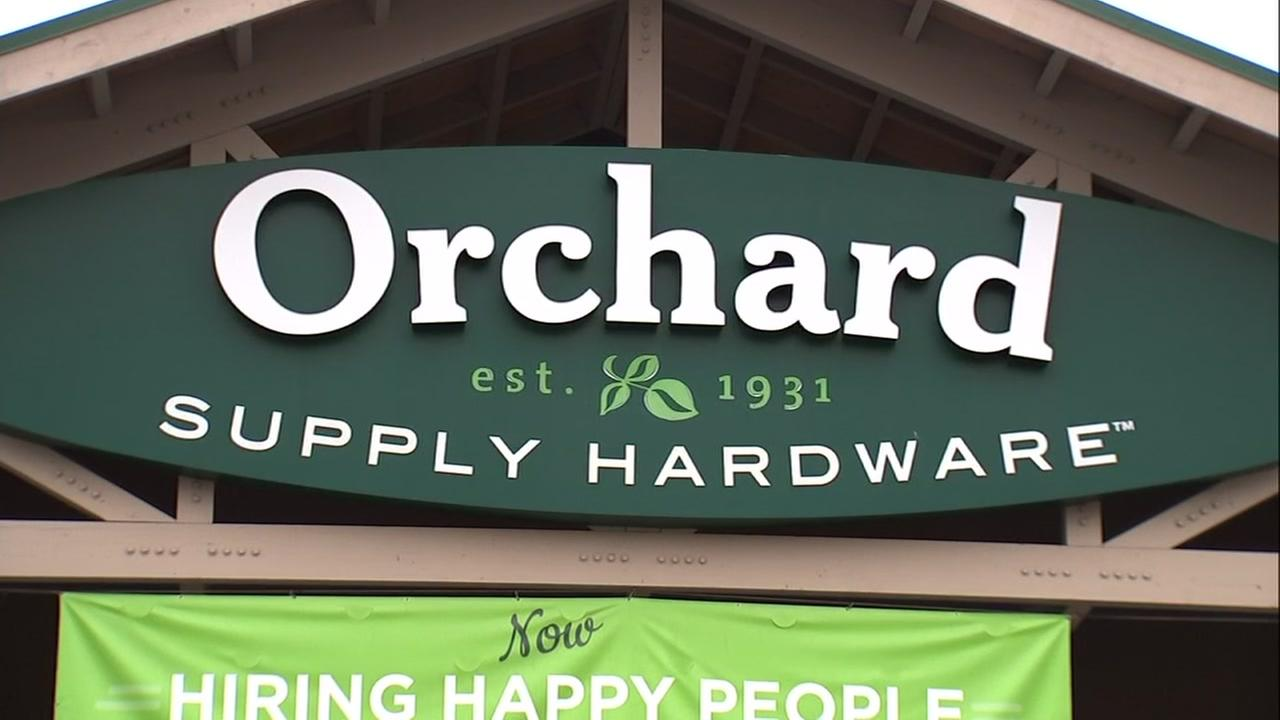 A sign appears outside a San Jose Orchard Supply location on Wednesday, Aug. 22, 2018.