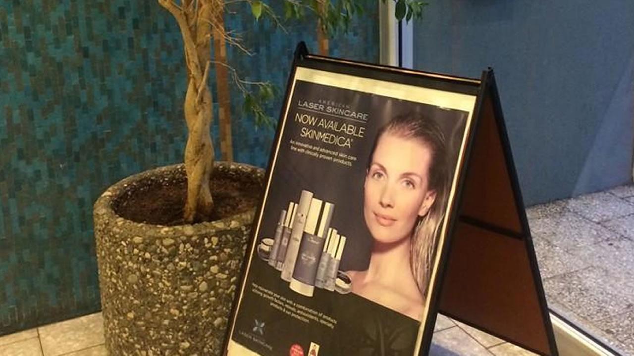 Poster for American Laser Skincare.