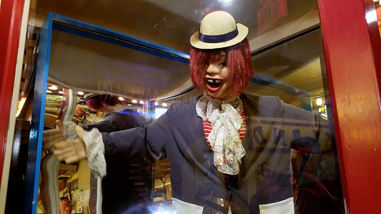 A replica of the original Laffing Sal entertains guests Playland Not-At-The-Beach in El Cerrito, Calif.