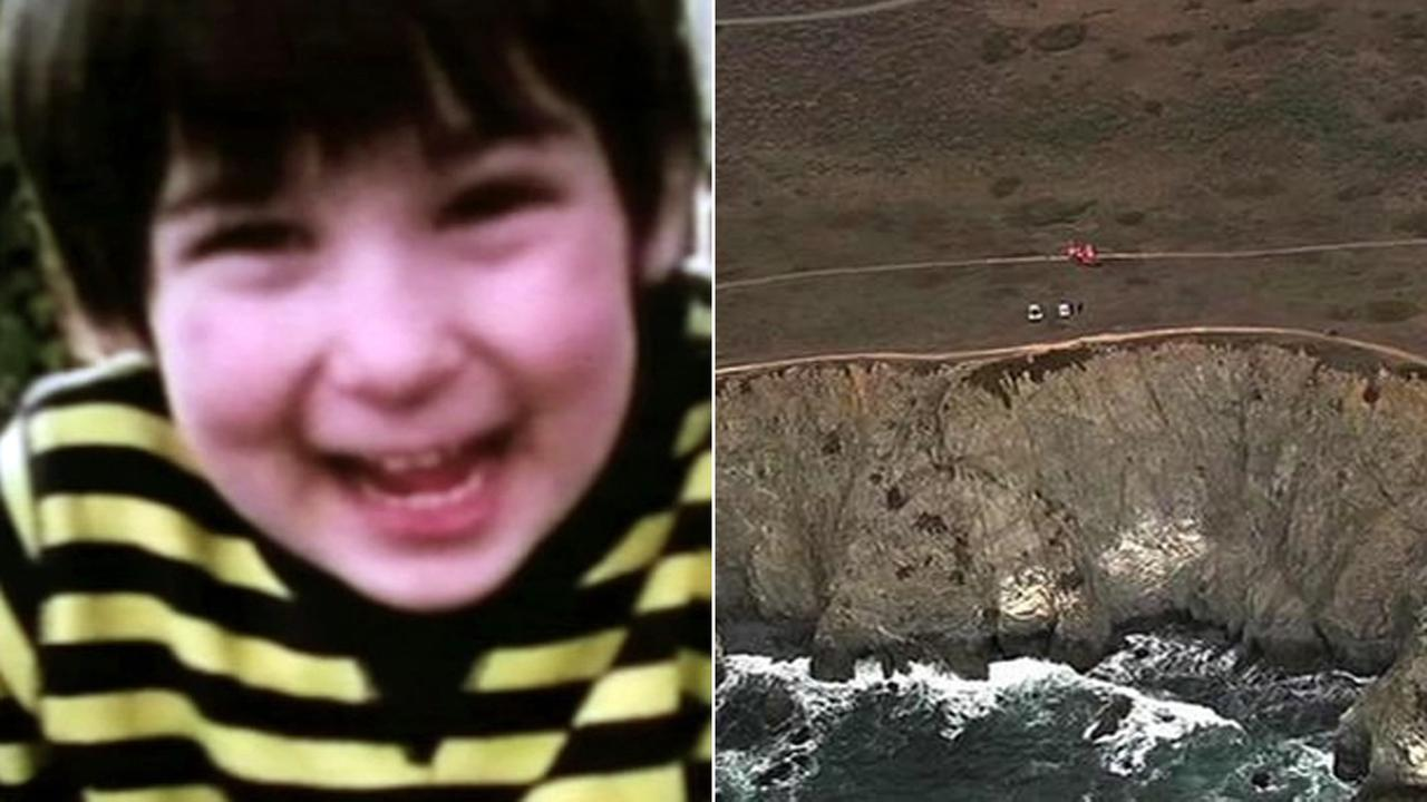 Sebastion Johnson and the cliff he fell down in Bodega Bay.