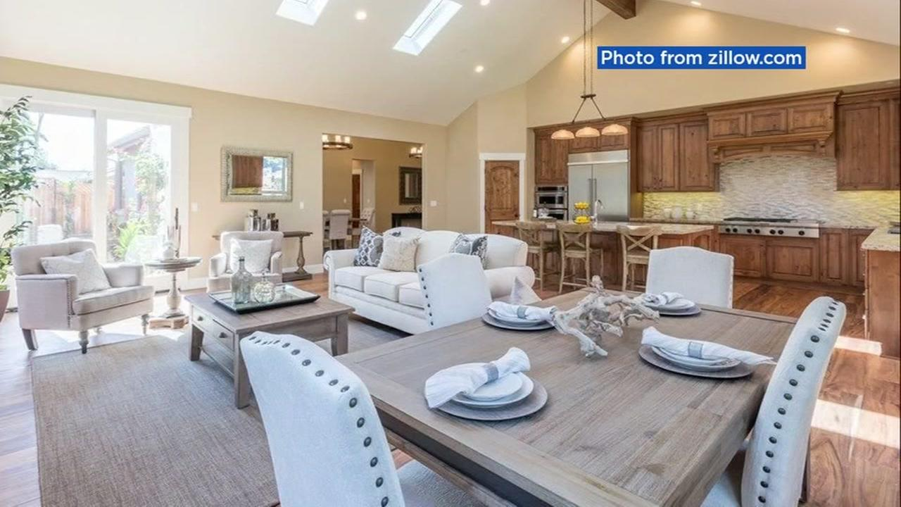 This photograph shows the inside of a home purchased for a retiring bishop in San Jose, Calif.