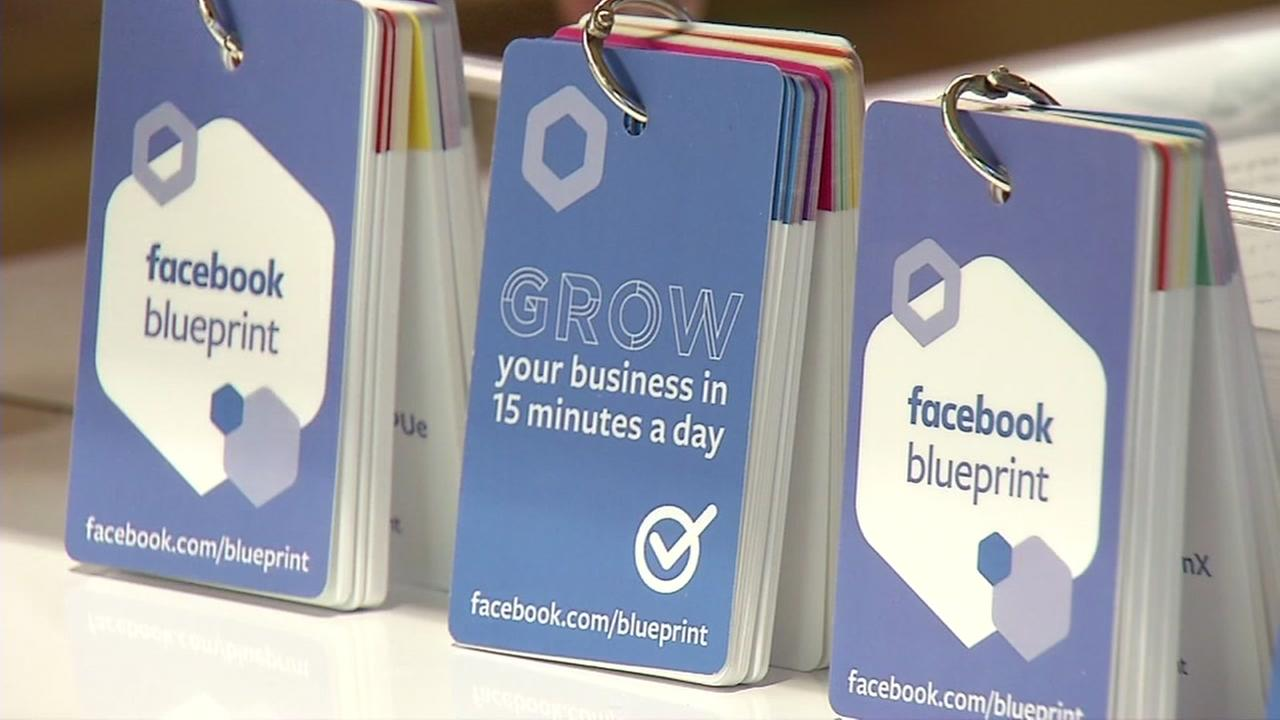 Facebook business materials appear in Menlo Park, Calif. on Monday, Aug. 27, 2018.