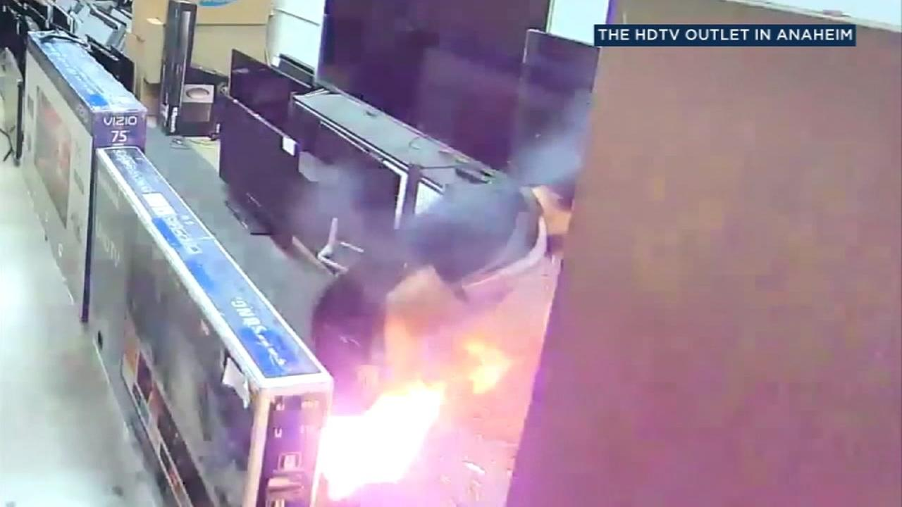 A man is shown after an e-cigarette exploded.