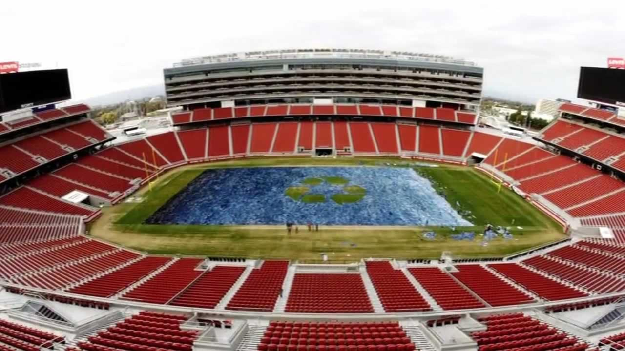 Levis Stadium in Santa Clara was literally turned into a Field of Jeans for two good causes.
