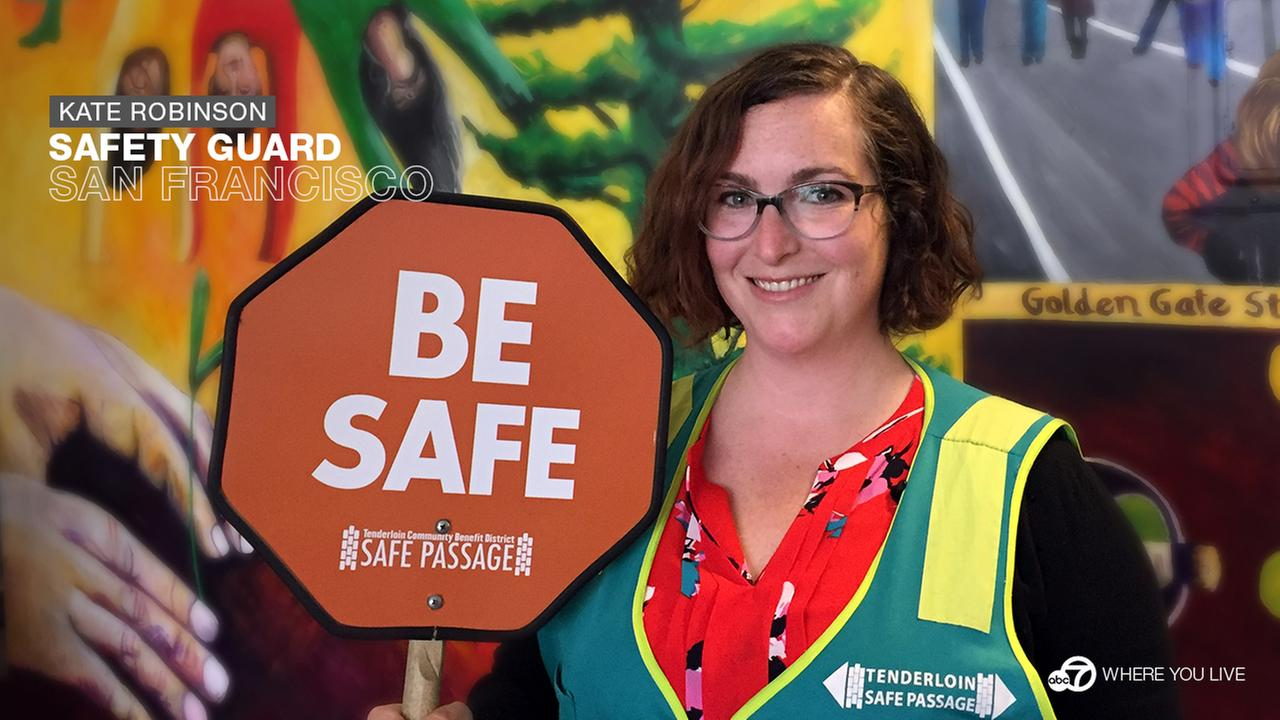 Kate Robinson knows how to keep kids safe. This ABC7 Star directs Safe Passage Program for the Tenderloin Community Benefit District.