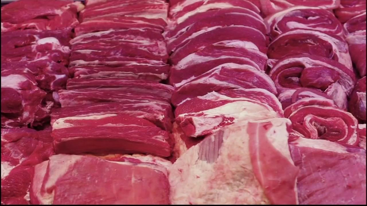 An undated file image of raw meat.