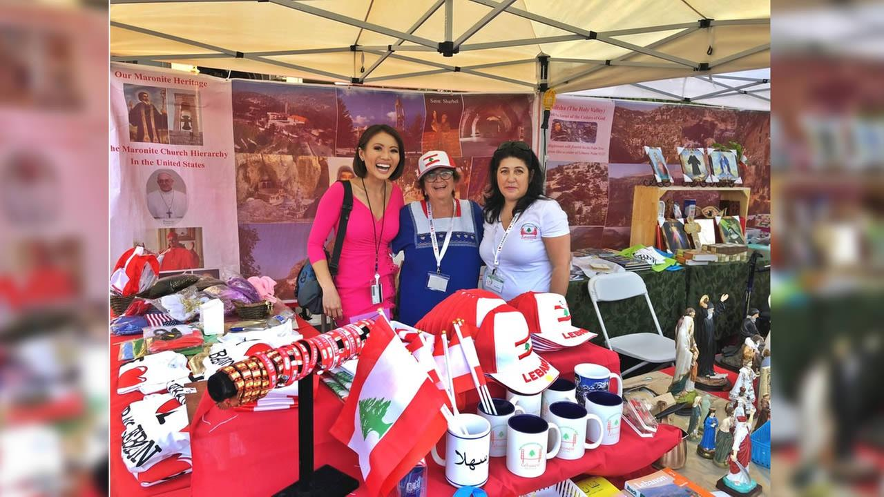 ABC7s Dion Lim at the Lebanese Festival in Redwood City, Calif., on Sept. 1, 2018.