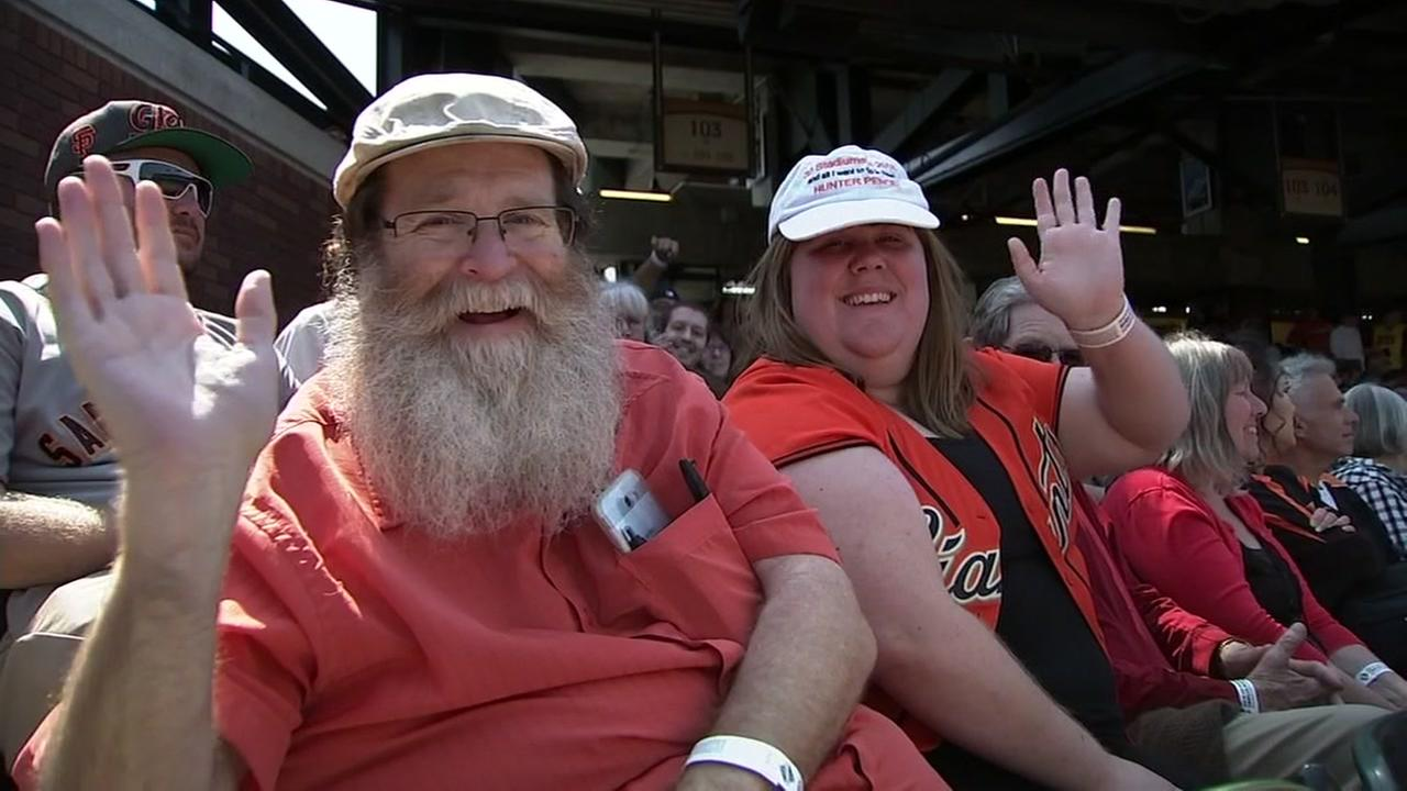 Danny Thompson and his daughter Emily at AT&T Park in San Francisco on September 2, 2018.