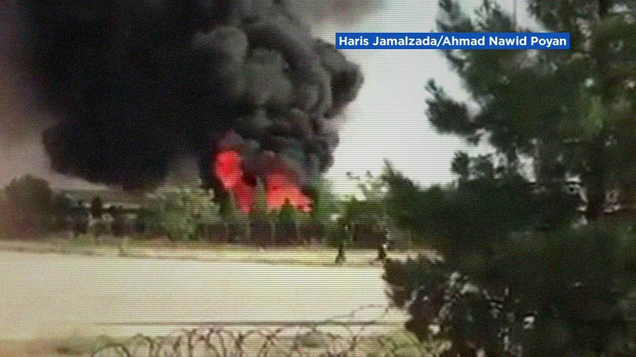This is an undated image of a helicopter crash in Afghanistan.