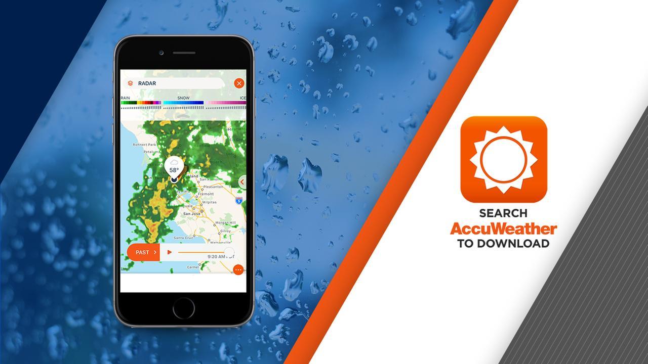 AccuWeather app for San Francisco, San Jose, Oakland