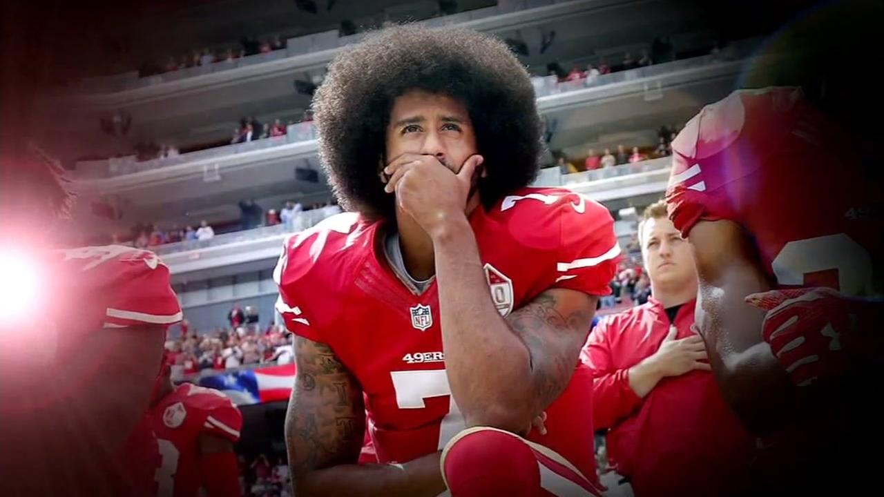 This is an undated image of Colin Kaepernick.