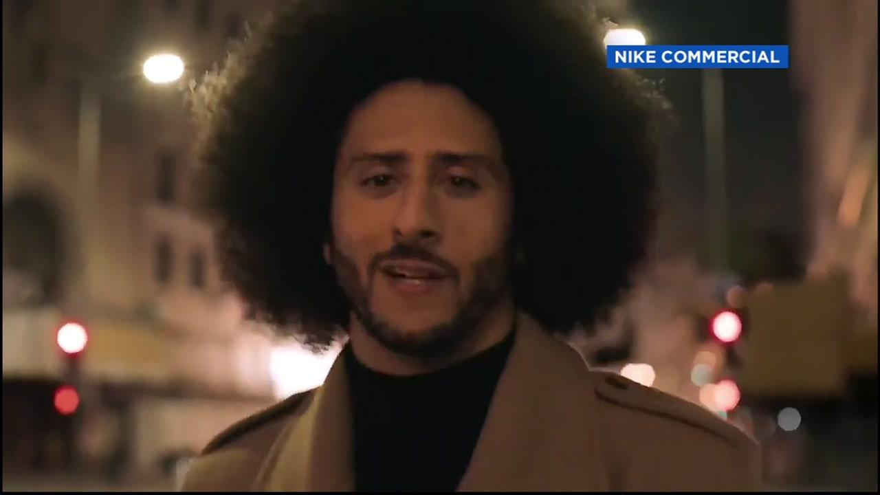 Nike advertisement with Colin Kaepernick