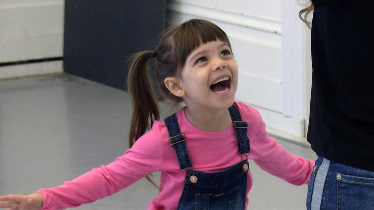 Five-year-old Coco Stats tries out for the role of Lulu in the San Francisco production of Waitress.
