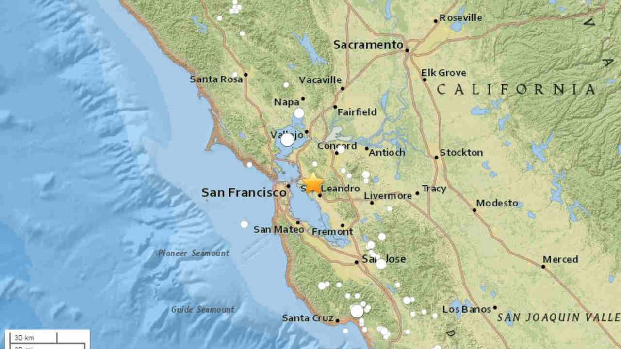 A USGS map shows the location of a magnitude 2.8 earthquake on Saturday, September 9, 2018.