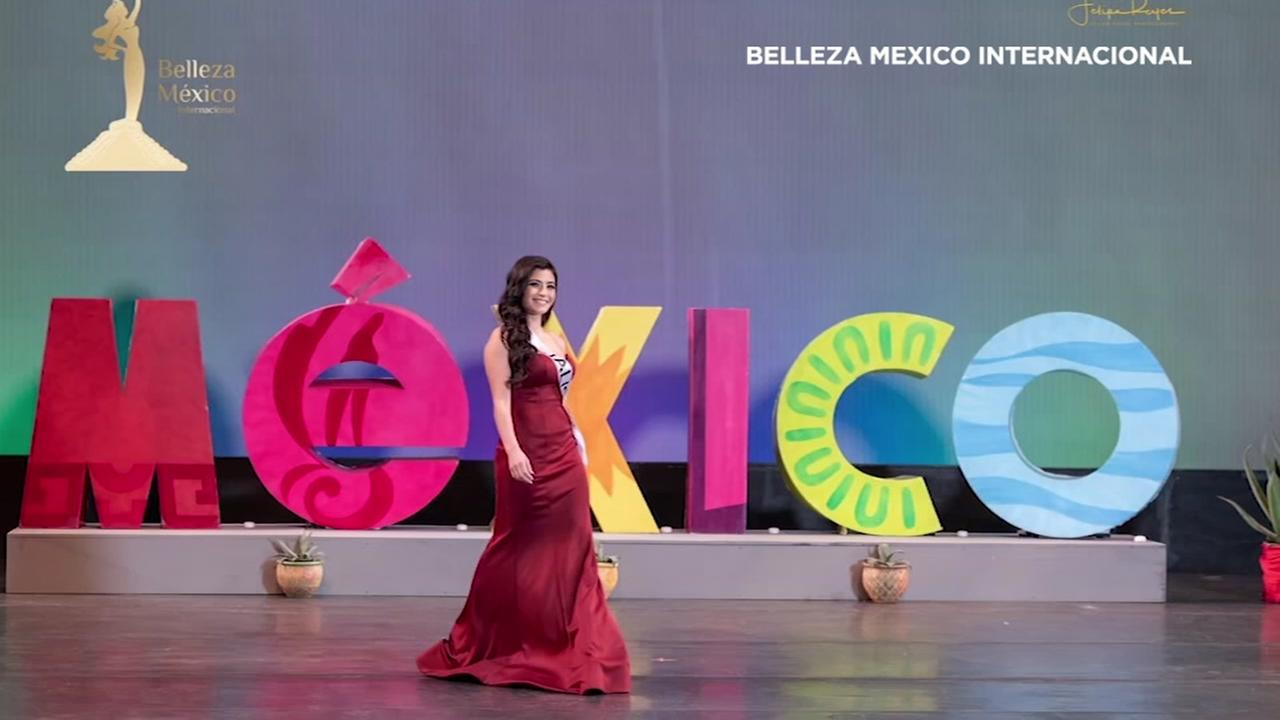 A contestant is seen during the Belleza Jalisco Internacional beauty contest in this undated image.
