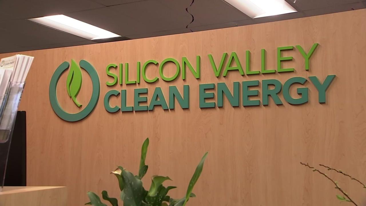 A sign is seen at the office of Silicon Valley Clean Energy in Sunnyvale, Calif. in this undated image.