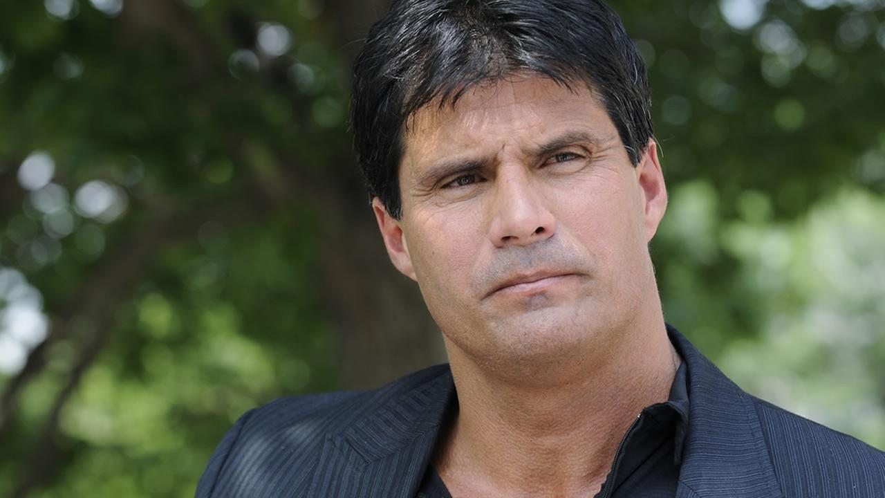 FILE - This June 3, 2010, file photo shows Jose Canseco talking with reporters in Washington.  (AP Photo/Susan Walsh, File)