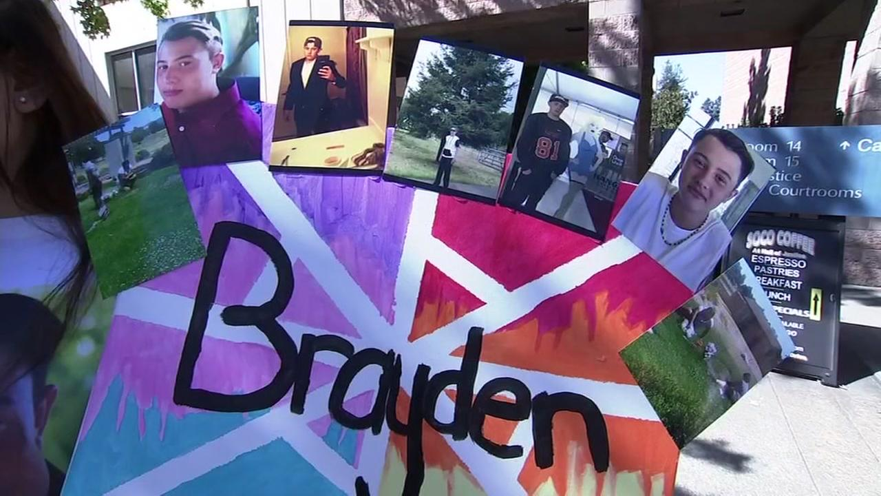 A sign commemorating the life of a North Bay teen who died of a drug overdose, appears on Tuesday, Sept. 25, 2018.