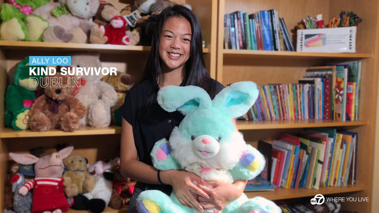 Ally Loo shares comfort and kindness with kids who have suffered abuse.