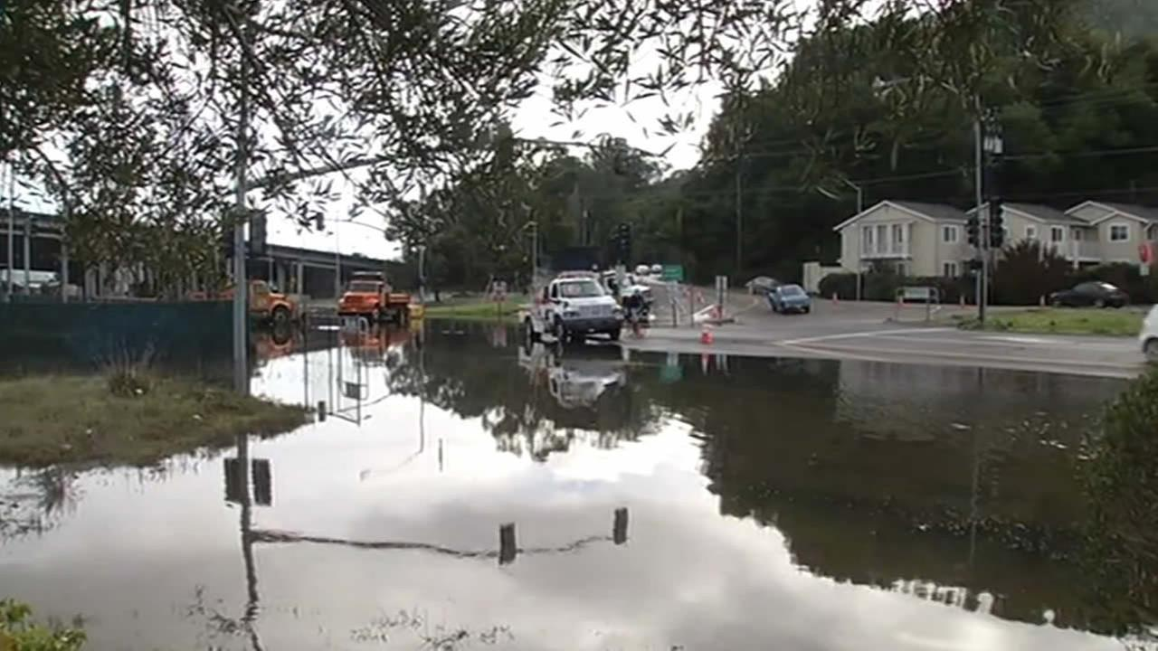 The king tide caused some flooding in Mill Valley on Saturday, Dec. 21, 2014.